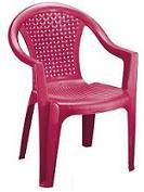 صندلی پلاستیکی با بافت حصیری