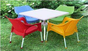 خرید میز صندلی حصیری