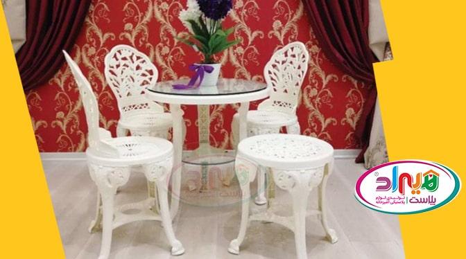 میز پلاستیکی طرح طاووسی